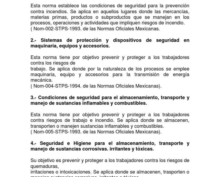 Normas mexicanas de seguridad e higiene